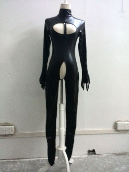 Women's Sexy Crotchless Catwoman Lycra Jumpsuit Cat Woman Sexy Costume