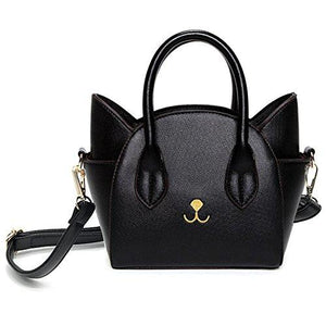 Women's Famous Designer Black Luxury Cat In Bag Purse - icu-sexy