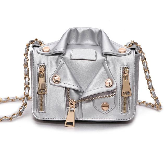 Women's Silver Leather Tassel Famous Luxury Designer Brand Bag - icu-sexy