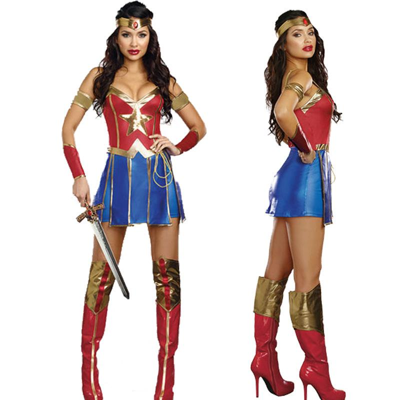 Adult Wonder Woman Cosplay Halloween Costume