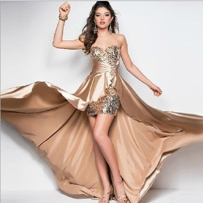 Women's Celebrity Designer Gold Silver Sequinned Sleeveless Vintage Slit Maxi Dress in 9 Colors