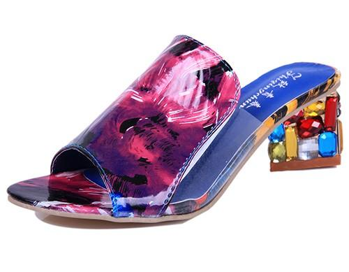 Women high Heels Sandals With Decorative Fashion Rhinestone - icu-sexy