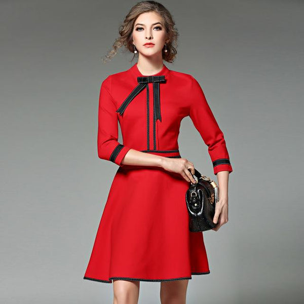 New Ladies Fashion Red Christmas Winter Dresses - ICU SEXY