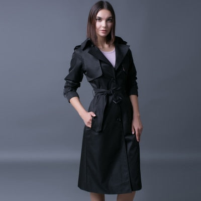 Women's Single Breasted British Style Fashion Trench Coat