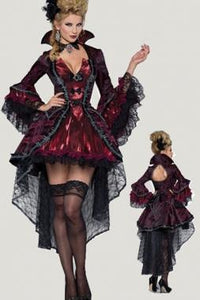 Gothic Vampire Vampiress Costume Medieval Cosplay Dress - icu-sexy