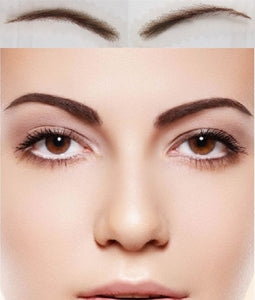 To Long-lasting Natural Wear Card Eyebrow 2016 Real Sobrancelha Women's Fake Eyebrow, New Arrival Human Hair Eyebrows Rushed