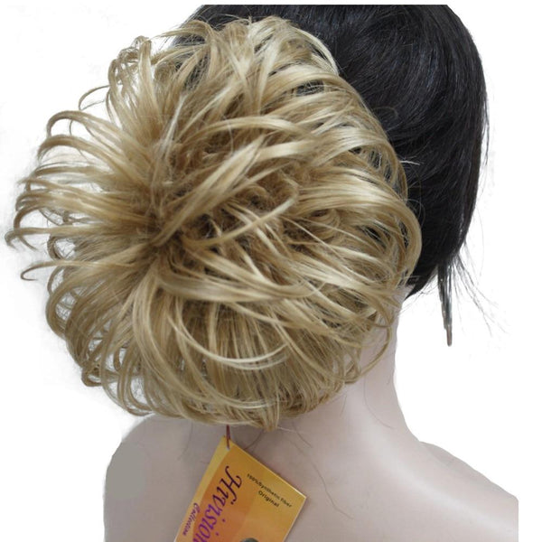 Messy Curl Scrunchy Hair Bun Extension Hairpiece Chignon in 4 Colors - icu-sexy