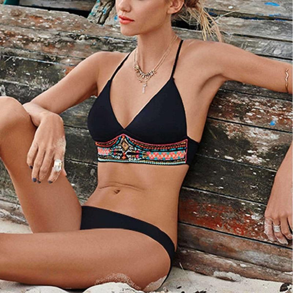 New Swimwear Sexy Push Up Bohemian Print Bathing Suit - ICU SEXY