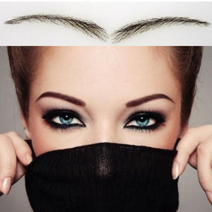 100% Human Hair False Eyebrows With Lace Natural Shades