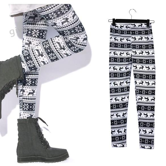Women's Warm Winter Fashion Leggings - icu-sexy