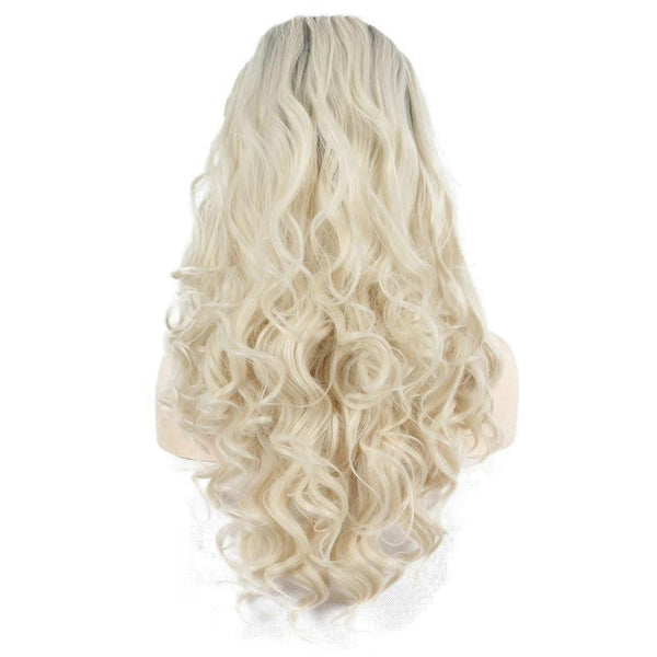Natural Wispy Hairline 2 Tone Blonde Hair Heat Resistant Soft Lace Front Wig - ICU SEXY
