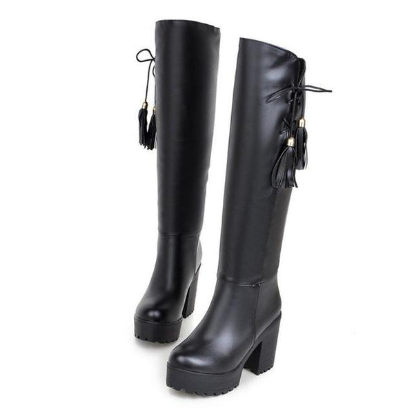 Women's Knee High Vintage Riding Style Long Boot Collection - ICU SEXY