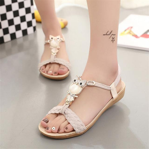 LAKESHI Women Sandals Comfortable Women Flat Sandals - icu-sexy
