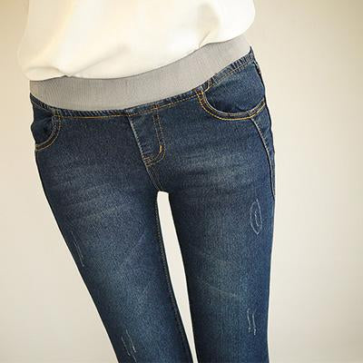 Women's Casual Fashion Blue Denim Jeans - icu-sexy