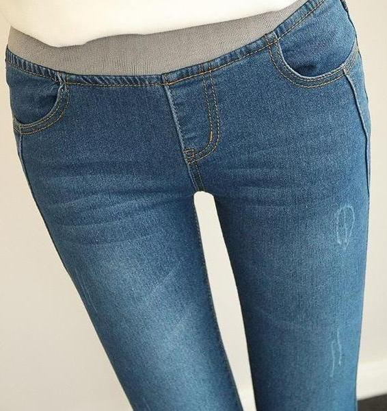 Women's Casual Fashion Blue Denim Jeans - ICU SEXY