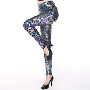 "Women Leggings PU Leather ""High Waist Leggings - icu-sexy"