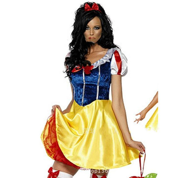 Adult Snow White Costume Cosplay Fantasia Halloween Costumes