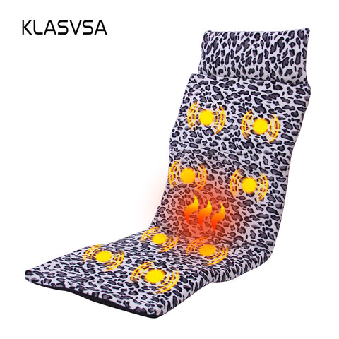 KLASVSA Electronic Heating Vibrator Massage Mattress Head Neck Back Massage Bed Therapy Cushion Relaxation Health Care Vibrador - icu-sexy