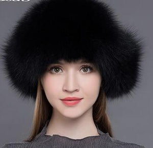 Women's Natural Raccoon Fox Fur Russian Ushanka Hats - ICU SEXY