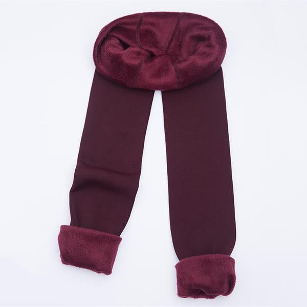 Tresdin Autumn Winter Fashion Explosion Model Plus Thick Velvet Warm Seamlessly Integrated Inverted Cashmere Leggings Warm Pants - ICU SEXY