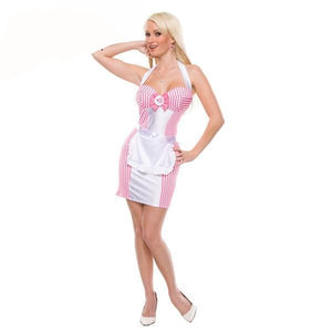 Women's Sexy Nite Pink French Maid Costume - icu-sexy