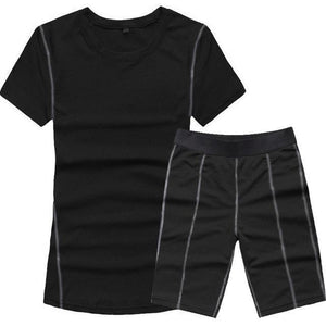 New Women's Yoga Fitness Tracksuit Shorts Set - icu-sexy