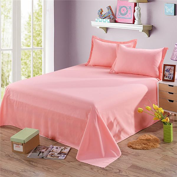 New Red/White/Grey Color Flat Sheet King Size Cotton Flat Sheets Bed Sheets With Pillow Covers - ICU SEXY