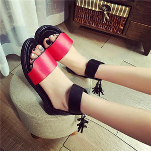Summer Sandals Women Flat Fashion PU Leather  New Fashion Zipper Sandals Comfortable Ladies Casual Shoes Zapatos Mujer - icu-sexy
