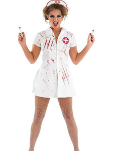 Women's Scary Blood Role Play Nurse Cosplay Costume - icu-sexy