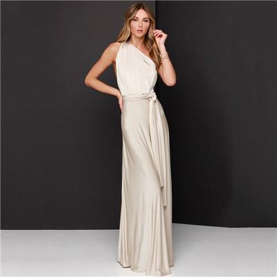 Women's Convertible Fashion Maxi Dress In 20 Colors - icu-sexy
