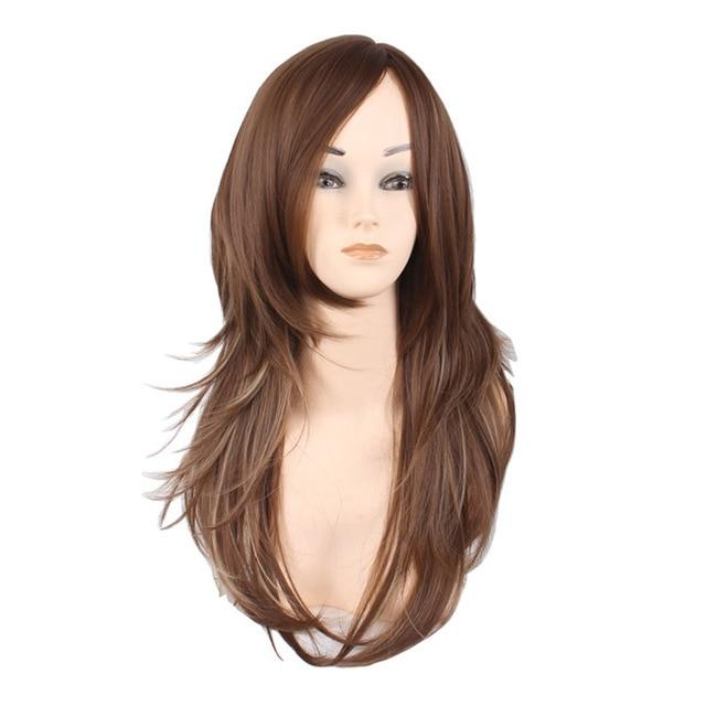 Women's Popular Style 2 Tone Natural Layered Heat Resistant Front Wig in 3 Shades - icu-sexy