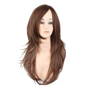 Women's Popular Style 2 Tone Natural Layered Heat Resistant Front Wig in 3 Shades - ICU SEXY