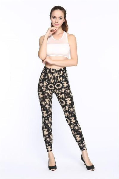 New  Multiple Colors Flower Printed Fashion Leggings - icu-sexy