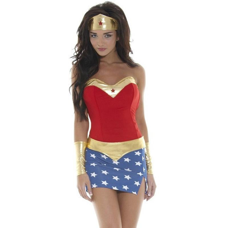 Wonder Woman Costume Cosplay Halloween Masquerade - icu-sexy