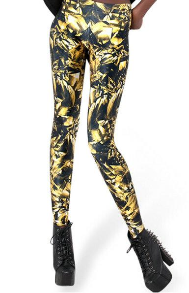 Jack Skellington Print Leggings Harajuku Gothic Women's Fashion Leggings - icu-sexy