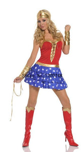 Wonder Woman Superhero Fancy Halloween Costumes Outfit - icu-sexy