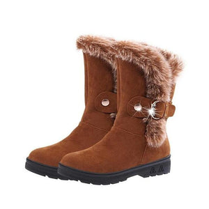 Women's High Quality Winter Snow Boots Fashion Mid-calf Boots - icu-sexy
