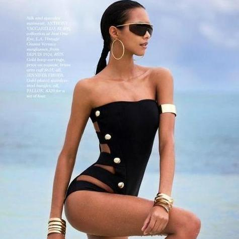Hollow Sexy Multi-buckle One Piece Swimsuit Bandage - icu-sexy