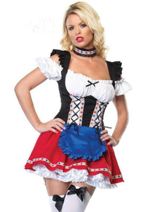 Women's Oktoberfest German Beer Girl Costume S,M,L,XL - ICU SEXY