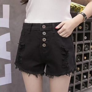 Women's Fashion Casual Denim Shorts - icu-sexy