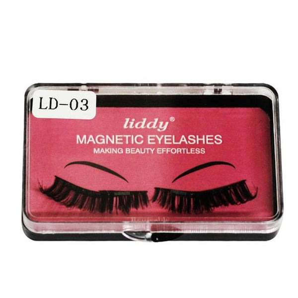 Liddy Ultra-thin 0.2mm 7 Styles Reusable False Magnet Eyelashes - icu-sexy