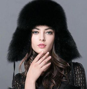 Russian Leifeng Style Fox Fur & Genuine Bomber Raccoon Designer Hats - ICU SEXY