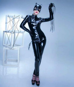 Red Hot Catwoman Costume Open Crotch Jumpsuit - ICU SEXY