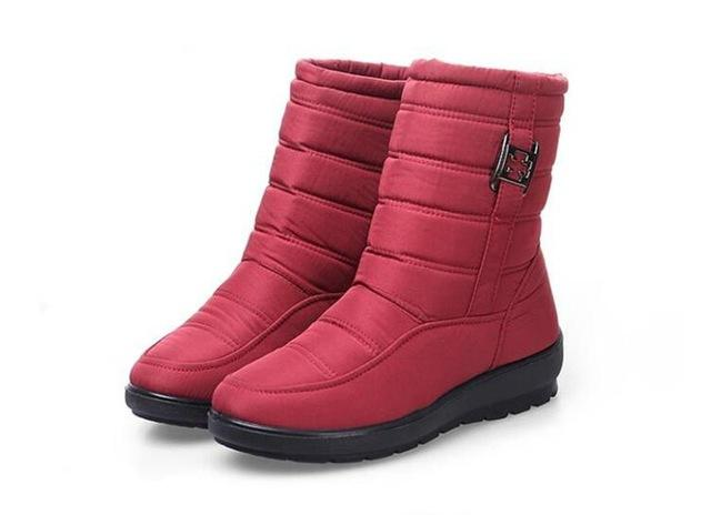 Waterproof Flexible Woman Boots High Quality Warm Fur Inside Snow Boots - icu-sexy