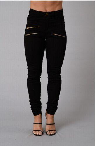 New High Fashion Casual Women's Pencil ZipperJeans - icu-sexy