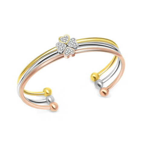 Designer Inspired Clover Heart Shaped Combination Bracelet & Bangle - ICU SEXY