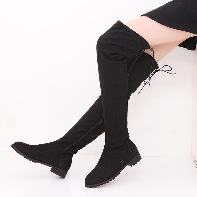 Suede Slim Boots Sexy over the knee high women snow boots - icu-sexy