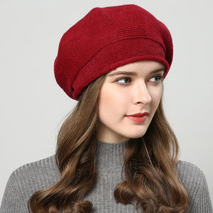 Women's Winter Fashion Berets Women's Beret Caps in 7 colors - ICU SEXY
