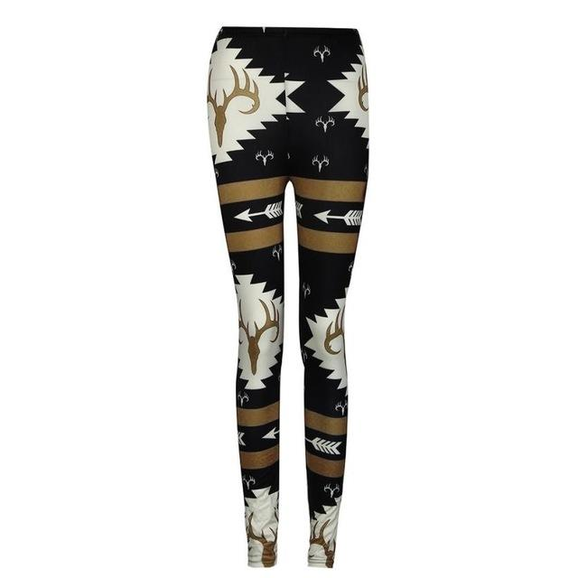 Womens Leggings Pants Fashion Women Skinny Printed Stretchy Pants - icu-sexy