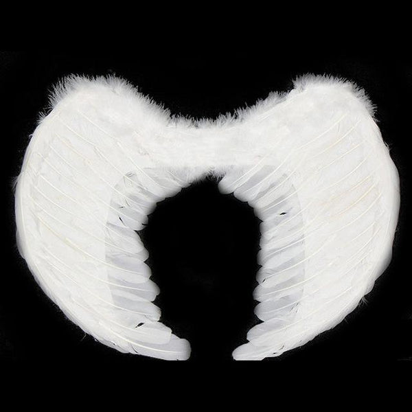 White Angel Light Wings Feather Costume - icu-sexy